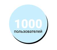 1000 пользователей
